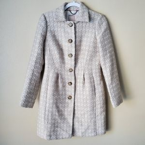 Banana Republic Wool Beige Button Down Coat